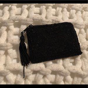 Handbags - Tiny black beaded bag